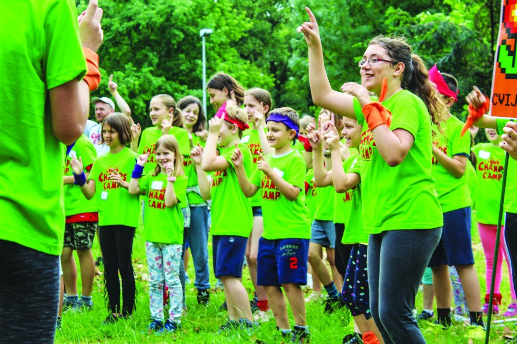 Croatian children enjoy singing during Champs Camp, which is organized by members of Churches of Christ in Zagreb, Croatia.