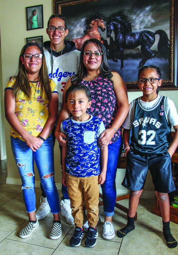 Biatriz Larez with Alejandra, 11; nephew Dametrio, 15; Zacarias, 5; and Lexie, 8.