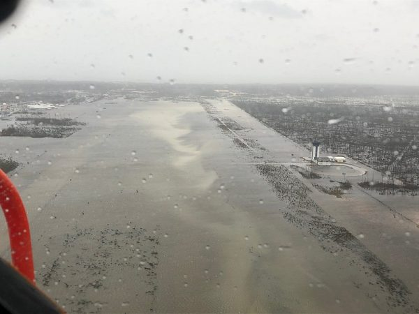 Marsh Harbour Airport, Bahamas, following devastation by Hurricane Dorian on September 2, 2019