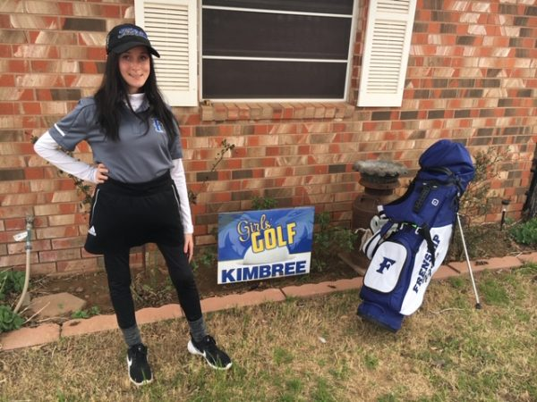 Kimbree Houston has excelled at golf, despite her medical challenges.