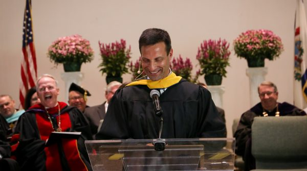 Michael Ross speaks at his inauguration on Sept. 20.