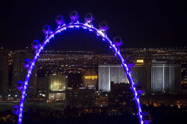 can be seen from the Eiffel Tower replica at Paris Las Vegas.