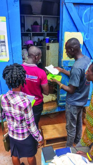 In the West African nation of Ghana, members of the Nsawam Road Church of Christ in Accra distribute Bible studies on Door Knocking Day.