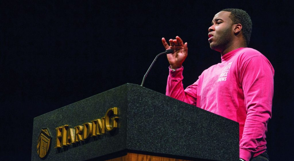 Botham Jean leads singing during his student days at Harding University.