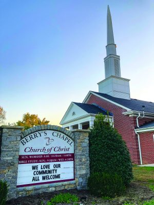 The Berry's Chapel Church of Christ in Franklin, Tenn., is a potential beneficiary of the Comer Trust. Founded in 1880, the church has a weekly attendance of 417.