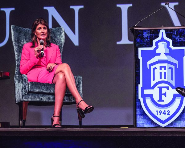 Nikki R. Haley speaks at Faulkner.