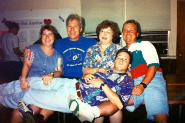 April Wiederstein, far left, with her parents and brothers in an undated photo.