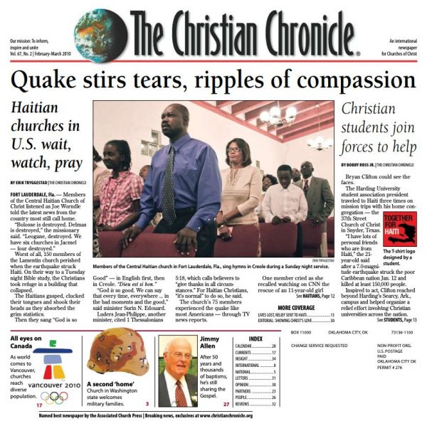February-March 2010 front page