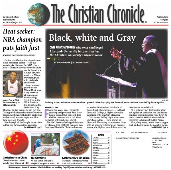 August 2012 front page