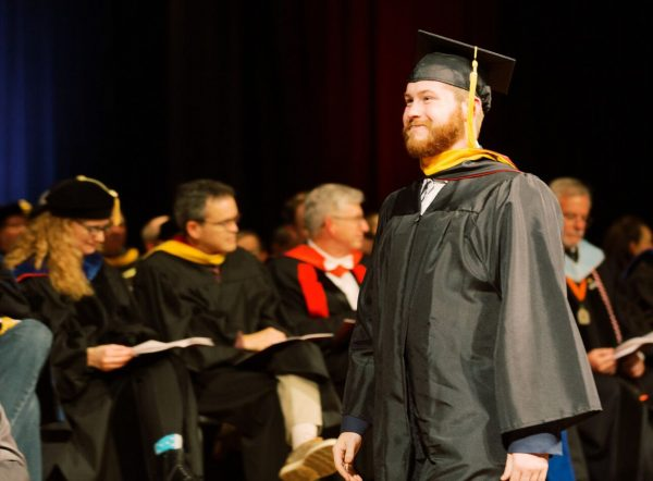 Hunter Wiederstein graduates from Oklahoma Christian University.