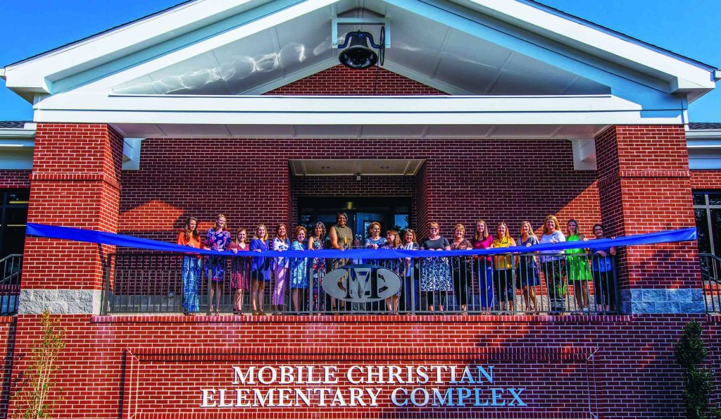Mobile Christian School teachers celebrate the opening of a new, 23,000-square-foot elementary complex.