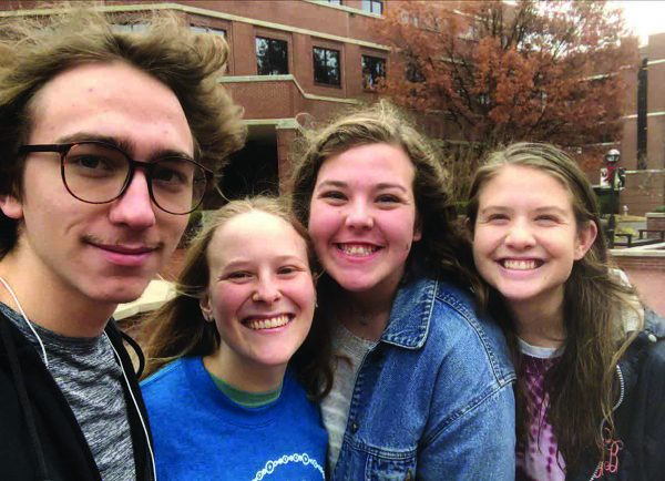 Jimmy Johns, Morgan Marcum, Mallory Prior and Lydia Boverie are students at Harding University.