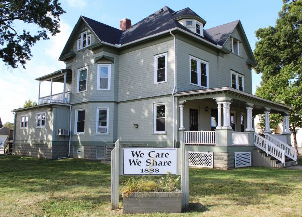 We Care We Share serves the poor in a converted three-story house in Lorain, Ohio.