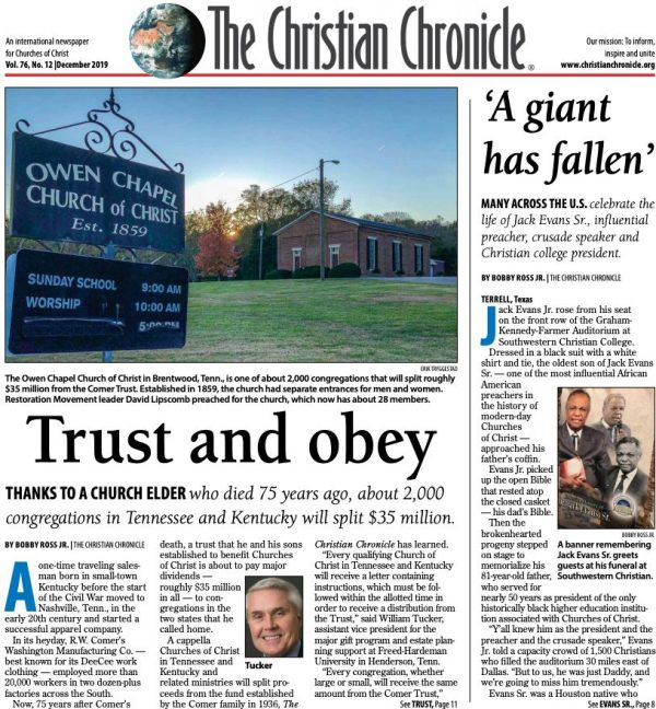 Front page of the November 2019 print edition
