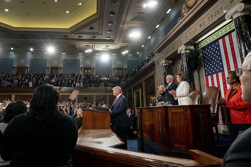 President Donald J. Trump delivers his State of the Union address Tuesday, Feb. 4, 2020, in the House Chamber in the U.S. Capitol in Washington, D.C..