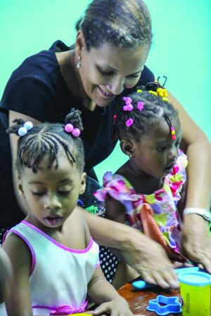 At the Mona Church of Christ in Kingston, Jamaica, women teach Bible classes for children.