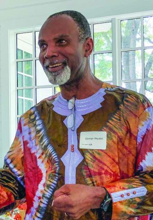 George Akpabli talks about the work of French African Christian Education during a luncheon at Freed-Hardman University in Henderson, Tenn.