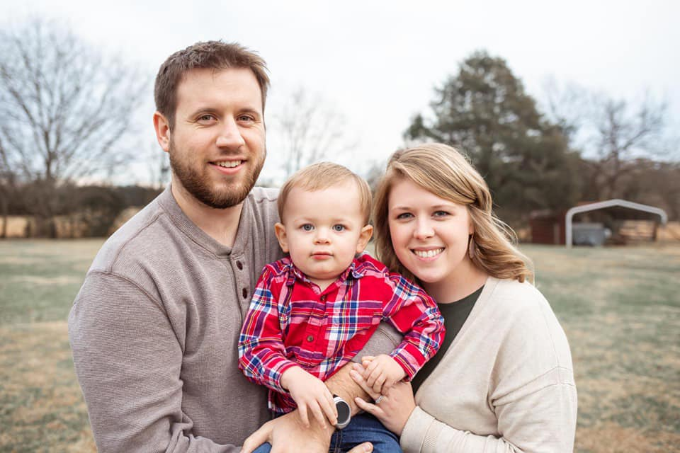 Two-year-old Sawyer Kimberlin died in the tornado along with his parents, Josh and Erin.