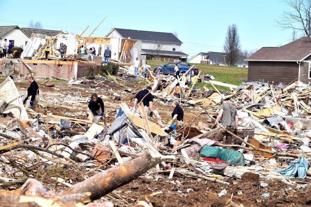 Tornado debris in Cookeville, Tenn. | Photo by Herald-Citizen