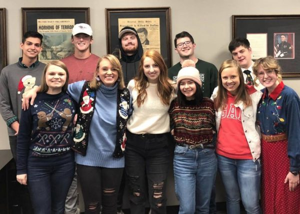 The staff of The Talon, Oklahoma Christian University's student newspaper.