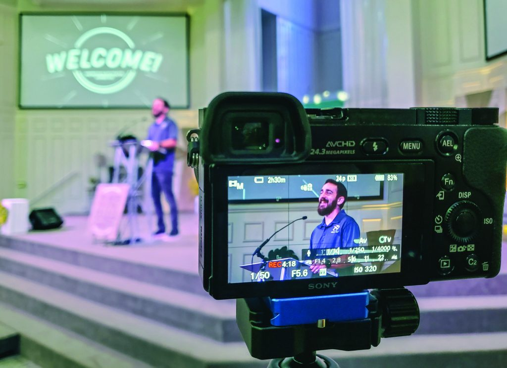 Vince Nieves, children and family minister for the Belton Church of Christ in Texas, speaks on livestream. Find a list of Churches of Christ livestreaming.