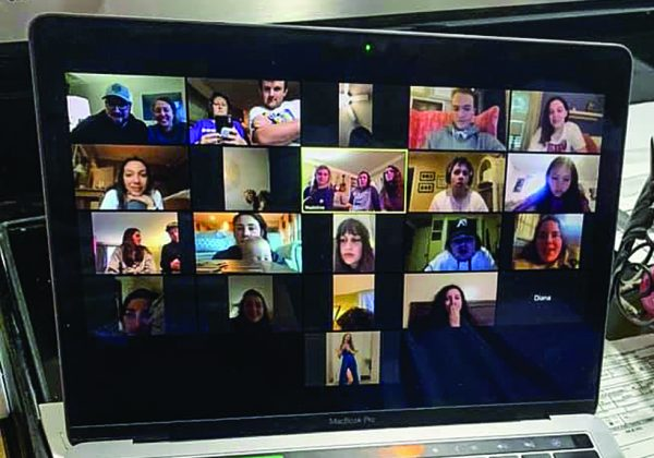 "A ""life group,"" small-group ministry of the Green Hills Church of Christ in Nashville, Tenn., meets online via the Zoom videoconferencing program."