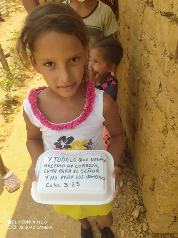 In Venezuela's Cojedes state, children receive meals paid for by Churches of Christ.