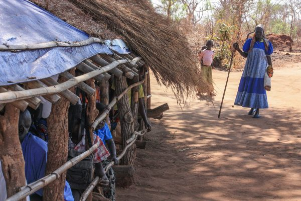 Sunday worship in Pajok, South Sudan, 2011.