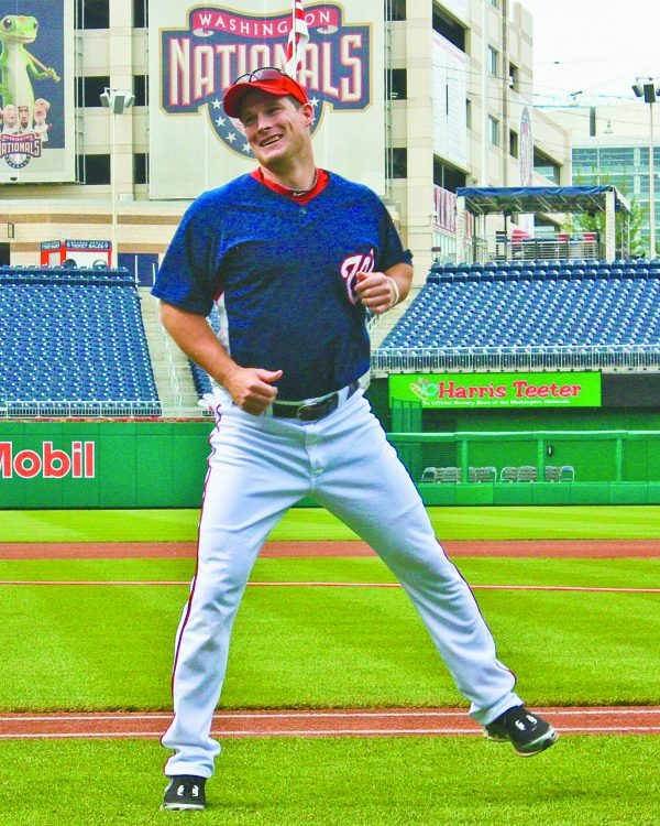 Josh Willingham of the Washington Nationals warms up before a 2010 game in the nation's capital.