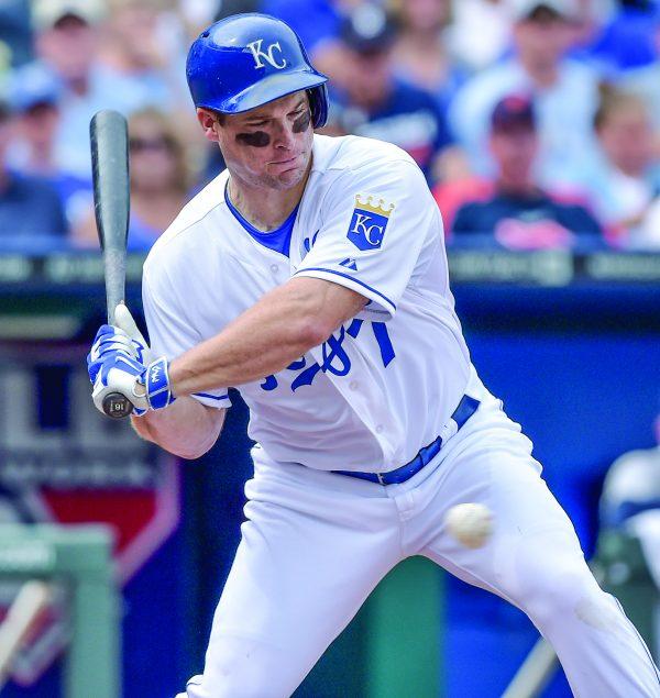 Kansas City Royals left fielder Josh Willingham bats in a September 2014 game.
