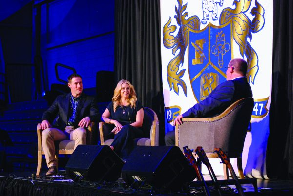 Josh and Ginger Willingham discuss life after baseball in an interview with Bobby Ross Jr. at Mars Hill Bible School.