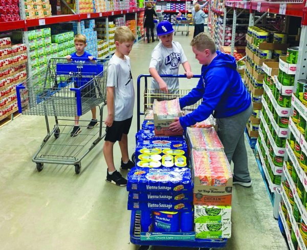 Volunteers collect food for Isaiah's Call, the Josh Willingham Foundation's flagship program. The nonprofit feeds needy schoolchildren on weekends.