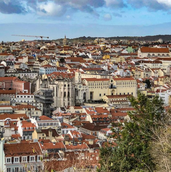A view of Lisbon, Portugal, from atop São Jorge Castle.