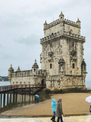 Belém Tower, a 16th-century fortification, served as a point of embarkation for Portuguese explorers and as a ceremonial gateway to Lisbon.