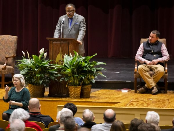 Lawmaker and minister John DeBerry Jr. preaches earlier this year at the 84th annual Bible Lectureship at Freed-Hardeman University in Henderson, Tenn.