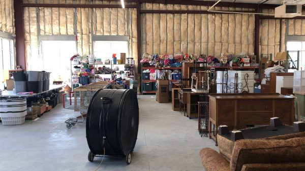 Central Furniture Rescue is able to keep most of the donations together in an easy to access warehouse.