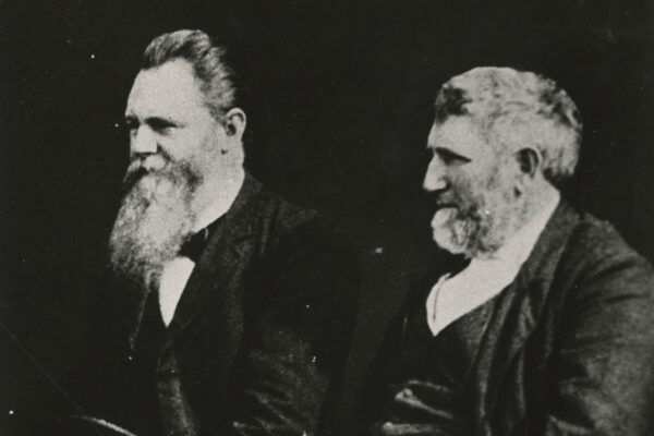 James A. Harding, left, and David Lipscomb cofounded Lipscomb University as the Nashville Bible School in 1891.