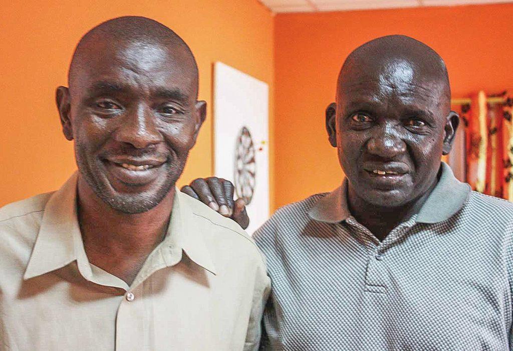 Isaac Adotey and Isaya Jackson in Juba, Sudan, March 2011.