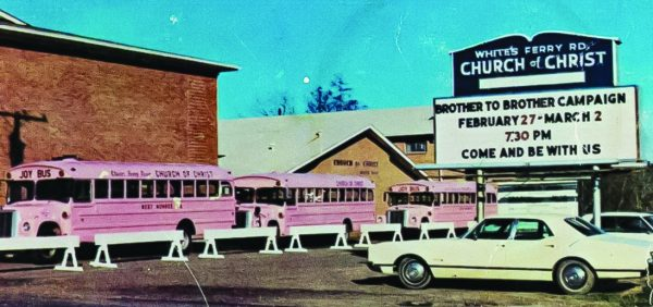 Decades ago, the White's Ferry Road Church of Christ in West Monroe, La., had a vibrant JOY bus ministry. The church opened a preaching school in 1970.