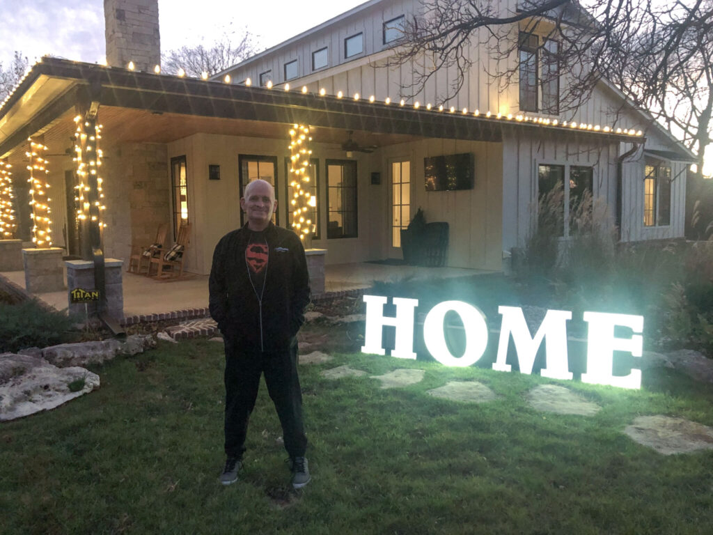 After surviving COVID-19 and spending nearly seven weeks in the hospital , Mitch Wilburn was finally able to go home.