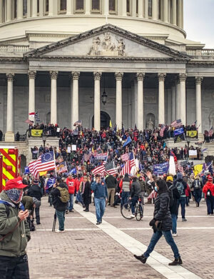 Supporters of President Donald Trump demonstrate at the U.S. Capitol in Washington, D.C.