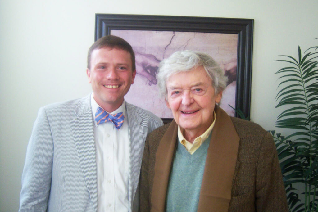 Willie Steele meets Hal Holbrook at the Christian Scholars Conference in Malibu, Calif., in 2011.
