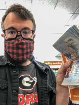 Erik Tryggestad says farewell to his soon-to-be-expired passport.