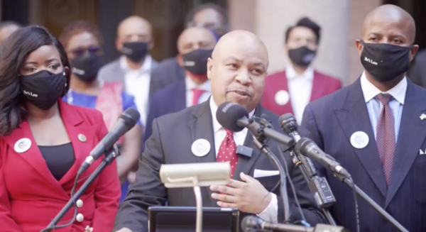 Texas Rep. Carl Sherman, Sr., author of the Botham Jean Act, speaks about the legislation on March 29, 2021.