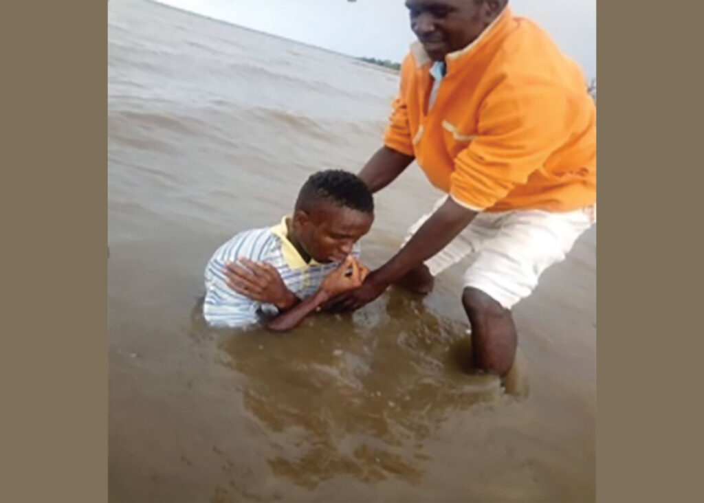 A baptism in Senegal.
