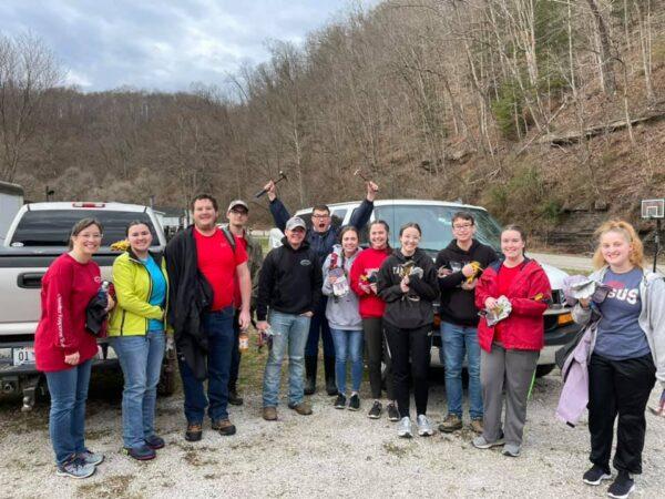Members of RiverHawks for Christ in eastern Kentucky
