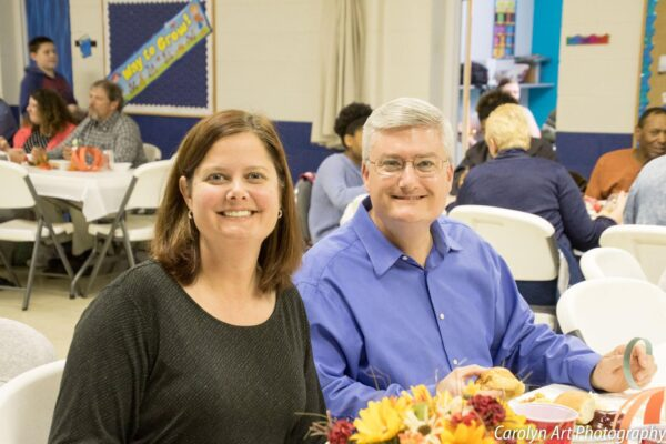 Adam and Heather Willson at a South Knoxville Church of Christ function.