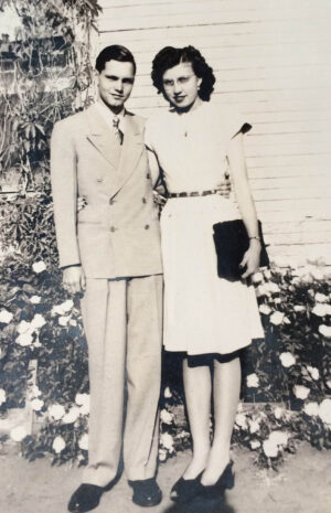 Dale and Fern Doyle as a young couple.