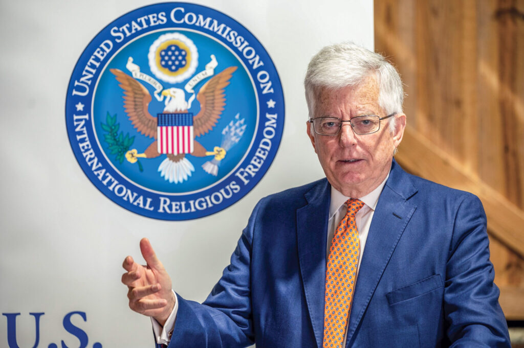 James W. Carr serves on the U.S. Commission for International Religious Freedom.
