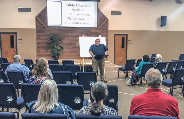 Lee Skelton teaches World Bible School's Mathetis program for the 10th and Broad Church of Christ in Wichita Falls, Texas. TTexas.